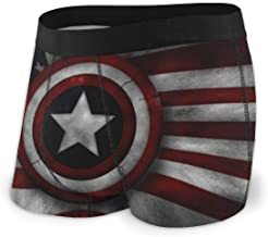 Captain America Men's Underwear Soft Boxer Briefs Stretch Boxer Trunks