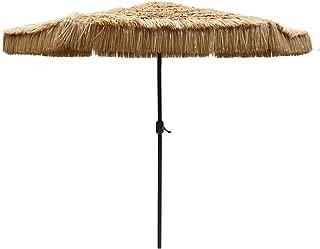 Le Papillon 9-Foot Tiki Hawaiian Patio Umbrella Thatched Umbrella