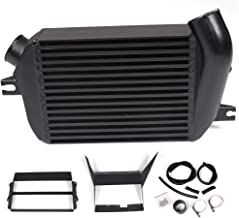 Fit For 2008-2014 Subaru WRX / 2008 2009 Legacy GT / 2009-2013 Forester XT 2.5L Turbocharged (EJ25) Turbo Performance Top Mount Intercooler Kit Upgrade Bolt On Black