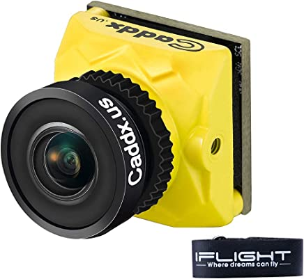$36 Get iFlight Caddx.us Ratel FPV Camera 1200TVL 2.1mm Lens Night Version 8ms Low Latency NTSC/PAL Switchable Integrated OSD for FPV Drone Quadcopter Multicopter (Yellow)