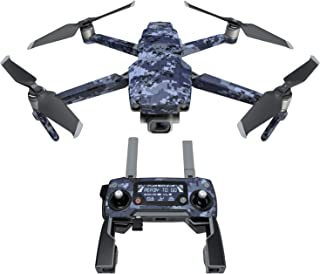 DJI Mavic 贴花套件 - 包括 1 个无人机/电池皮肤 + 控制器皮肤 Digital Navy Camo Mavic 2/Zoom DJIM2-DIGINCAMO