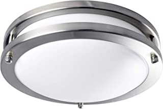 Luxrite LED Flush Mount Ceiling Light, 10 Inch, Dimmable, 4000K Cool White, 1000 Lumens, 14W Ceiling Light Fixture, Energy Star & ETL - Perfect for Kitchen, Bathroom, Entryway, and Closet