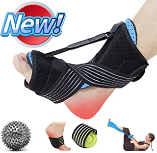 Upgraded 2020 Plantar Fasciitis Dorsal Night Splint Foot Drop Orthotic Brace, Breathable Sleep Support Pain Relief for Plantar Fasciitis, Heel, Arch Foot, Achilles Tendonitis
