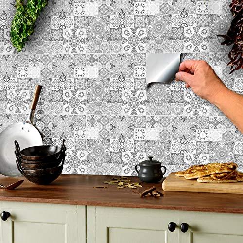 Tile style Decals -  24 stück hellgrau