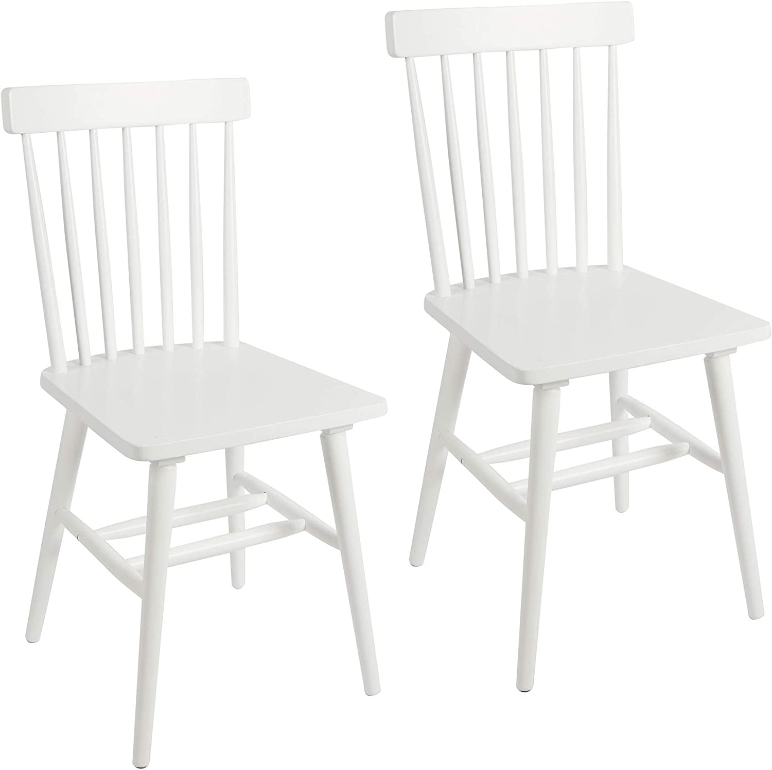 Super popular specialty store Gerald High Excellence Back Dining Chairs White Set 2 of