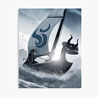 Akalin Wind Waker Decoration Frame Living Room Bedroom Wall Art Modern Style Decorative Painting 12x15.6inch