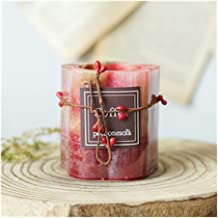 NXYCXXJS Romantic Flower Aromatherapy Candle Holder Essential Oil Smokeless Birthday Candle Wedding Decoration Home Decora...