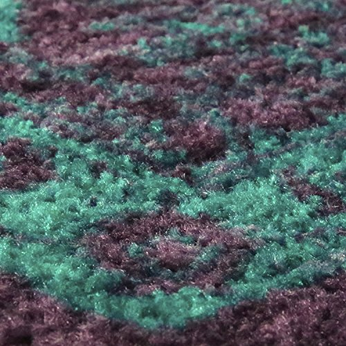 Georgina Traditional Runner Rug Non Slip Hallway Entry Carpet [Made in USA], 2 x 6, Winberry/Teal
