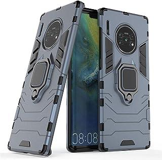 متوافق مع Huawei Mate 30 Pro، Huawei Mate30 Pro 5G، حامل معدني صلب مقاوم للصدمات (يعمل مع حامل السيارة المغناطيسي) غطاء مت...