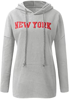 Makulas Women Sweatshirt Crew Neck Plus Size Letter Print Casual Long Sleeve Pullover Hoodies Loose Blouse T-Shirt