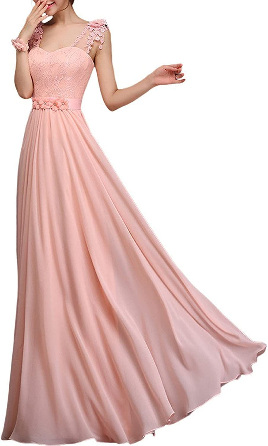Angel Bride Women's Formal Evening Dresses with Sash Straps Prom Gowns 2015