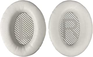 Replacement Ear-Pads Cushions for Bose QuietComfort-35 (QC-35) and QuietComfort-35 II (QC-35 II) Over-Ear Headphones (White)