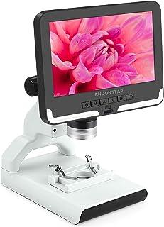 USDWRM USB Digital Electronic Microscope USB Digital Microscope with 7 inch LCD Screen Display Portable Inspection Tool (C...