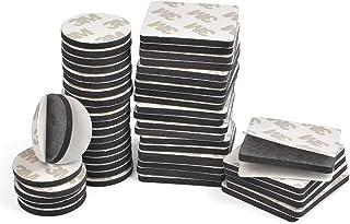 TIMESETL 50 Piezas Almohadillas Adhesivas 3M Doble Cara Cinta Adhesiva de Espuma EVA para Anti-Ruido/Resistente Golpes/Impermeable Negro