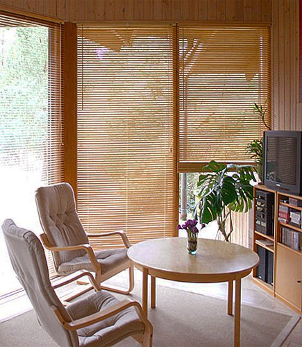 Bambusjalousie - Farbe: natur - Höhe 130cm - Breite wählbar - hier in: 55x130cm - Lamelle 25 mm