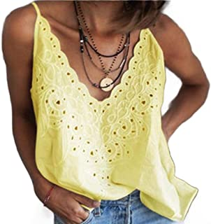 desolateness Women's Vest Sleeveless Loose Camisole Casual V-Neck Vest T-Shirt Top