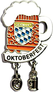Oktoberfest German Hat Pin by E.H.G | Metal Enamel Beer Mug | Oktoberfest Banner