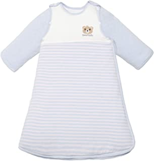 Bebé Saco de Dormir Pijama Algodón Pijamas Desmontable de Manga Larga 2.5 TOG Primavera Otoño Mono Niños Niñas 2-3 años Azul