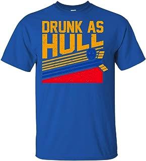 Brett Drunk As Hull T-Shirt Drunkest Man in America Stanley Appearance Tee Shirt
