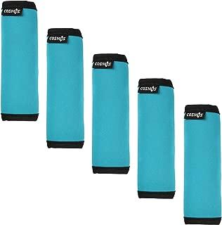 Cosmos ® 5 PCS Aqua Blue Color Comfort Neoprene Handle Wraps/Grip/Identifier for Travel Bag Luggage Suitcase