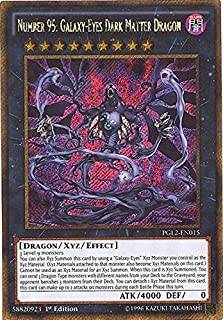 Yu-Gi-Oh! - Number 95: Galaxy-Eyes Dark Matter Dragon (PGL2-EN015) - Premium Gold: Return of the Bling - Unlimited Edition - Gold Secret Rare