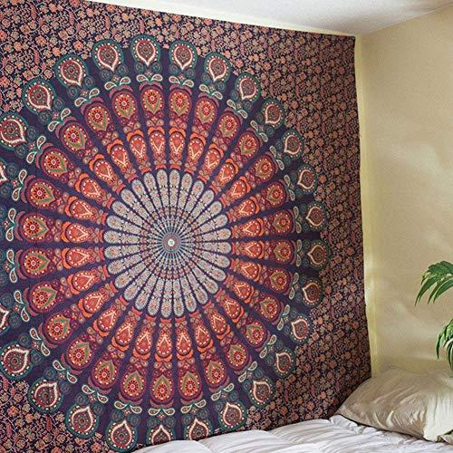 TOPINCN Tapiz de Pared Grande Bohemio Indio Mandala Colgante de Pared Ropa de Cama Tapiz Colgante de Pared Decoración Picnic Bedsheet Arte de la Pared(#3)