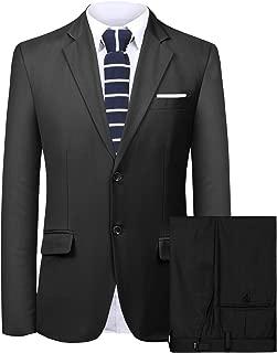 Men's Suit 2 Pieces Slim Fit Suit Jacket Pant Coat Business Blazer Men