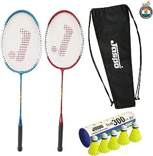 Jaspo GT 303 Intact Red/Blue Badminton Set(2 Badminton Racket and 5 Nylon Shuttle Cork,Carry Bag)