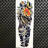 HXMAN 3 Pcs Impermeable Grande Muerte Cráneo Robot Brazo Vieja Escuela Temporal Tatuaje Pegatinas Gqb-024 Hombres Mujeres Cuerpo Arte Hombro Brazo Banda Tatuaje GQB027