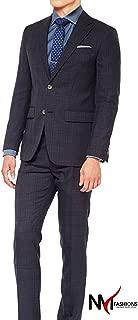 NMFashions Charcoal Shadow Glen Check HIGH QAULITY 2 Piece Suit