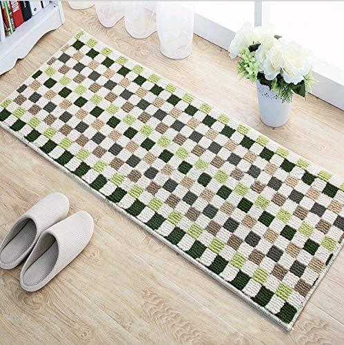 OPLJ Alfombrilla antideslizante para el hogar, diseño de rejilla vintage, para la cocina, para el baño, para el suelo, para exteriores, tamaño A2, 40 x 120 cm