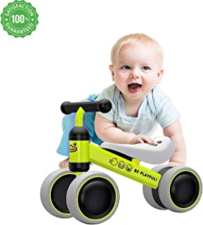 EvoBaby Baby Balance Bikes for Babies - Baby Balance Bikes Bicycle Children Walker 10 Month -24 Months Toys for 1 Year Old No Pedal Infant 4 Wheels Toddler First Birthday Gift - Baby's First Bike