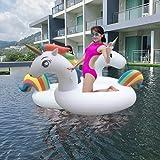 Flotador Unicornio, Los Adultos y los Niños Pueden Jugar en la Playa y Adecuado Para la...