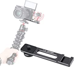 ULANZI PT-5 Vlog Cold Shoe Bracket Extension Bar Apply for Microphone LED Video Light w 1/4'' Tripod Screw for Sony A6400 6300 6500 6000 Nikon Canon G7X II III Mirrorless Camera Vlogging Accessories