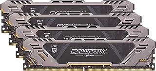 Crucial Ballistix Sport AT BLS4K16G4D26BFST 2666 MHz, DDR4, DRAM, Memoria Gamer Kit para ordenadores de sobremesa, 64 GB (16 GB x 4), CL16