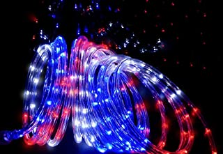 Izzy Creation 21FT Patriotic Red, White and Blue LED Flexible Rope Light Kit, Indoor/Outdoor, 3/8