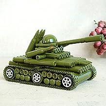 Outdoor Standbeelden Woondecoratie Gouden Spoor Land Tank Model Sieraden Bullet Shell Tank Meubels-E