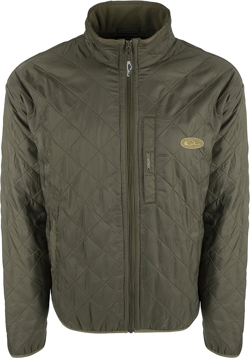 Drake Waterfowl Delta Fleece Lined Quilted Jacket
