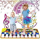 Sinwind Alfombra de Piano, Alfombra Teclado Musical, Alfombrillas de Música para Niños Alfombrilla de Baile Teclado Estera de Alfombra para Bebé, Niño, Niña Regalo