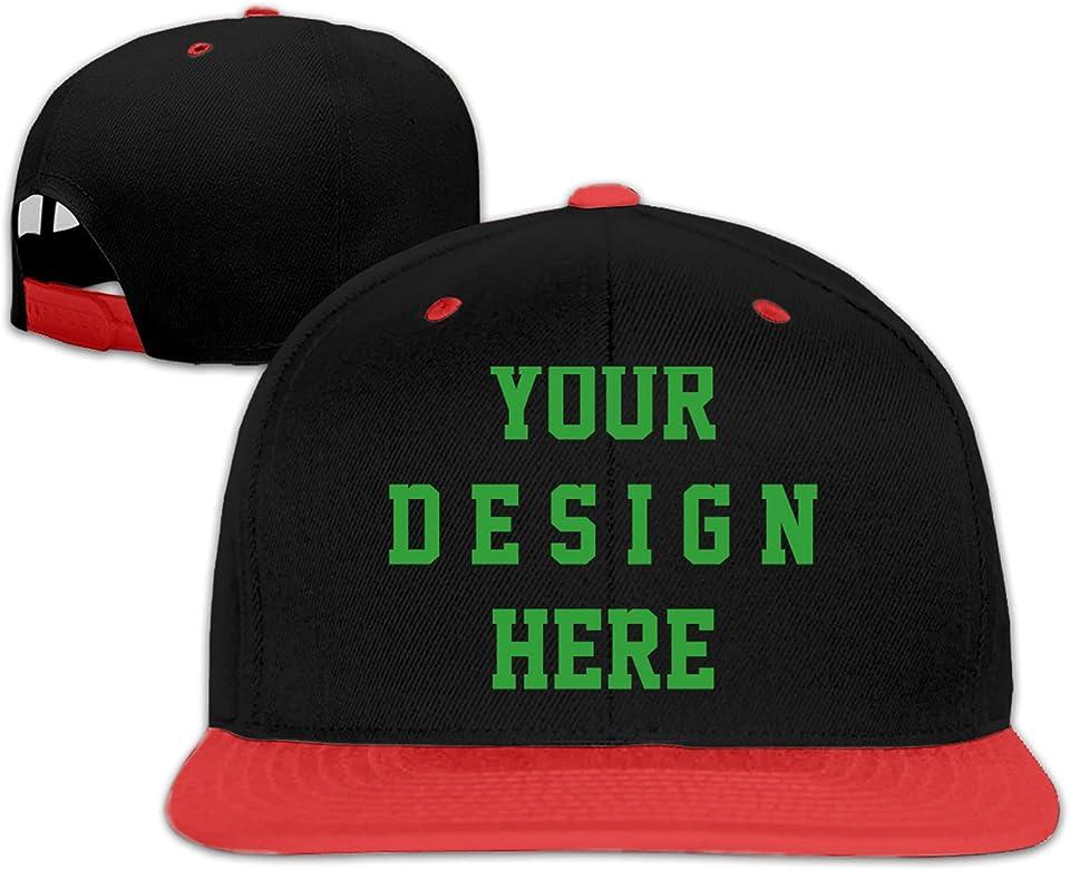 Customized Baseball Cap for Men Hip Pop Cap Custom Flat Peak Bill Hat Multi Color Unisex Personalized Baseball Hat Athletic for Men and Women