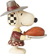 Enesco Peanuts by Jim Shore Thanksgiving Snoopy Pilgrim Miniature Figurine, 3.5 Inch, Multicolor
