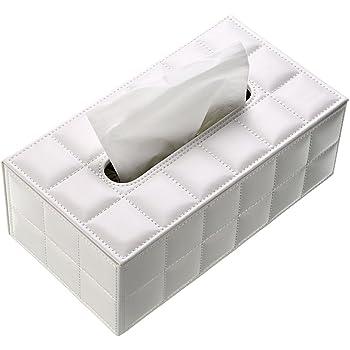 Caja de papel de seda BTSKY, sintética, para oficina, rectangular, diseño elegante y bonito, color blanco, decoración de casa: Amazon.es: Hogar