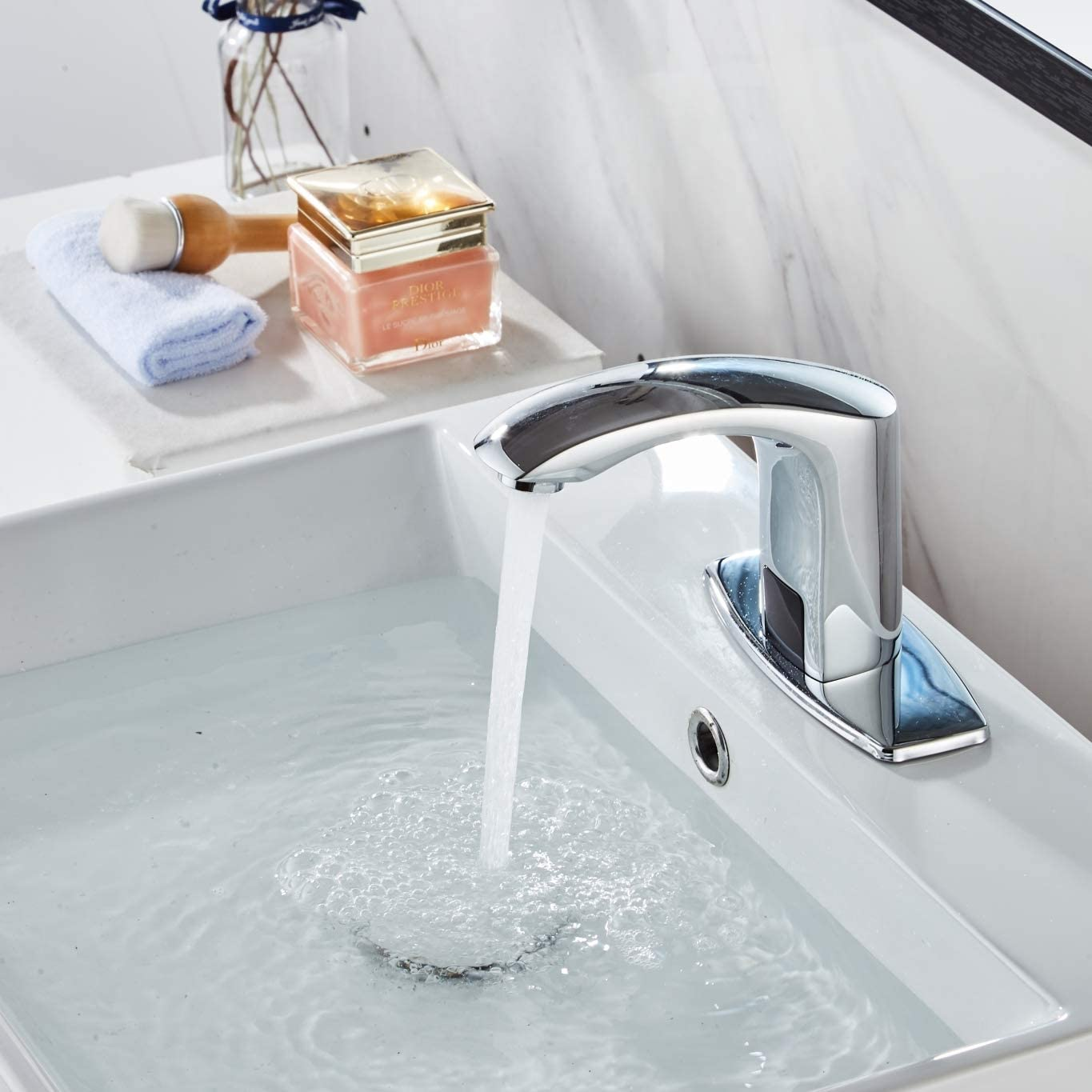 Buy Luxice Sensor Automatic Touchless Bathroom Sink Faucet Hot Cold Mixer Cover Plate Included Faucet Chrome Finished Online In Vietnam B087cdrr8m