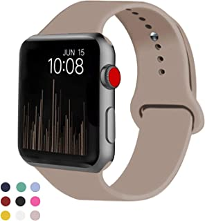 VATI Sport Band Compatible for Apple Watch Band 38mm 40mm 42mm 44mm, Soft Silicone Sport..