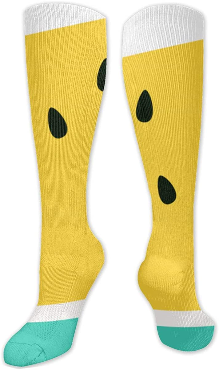 Yellow Watermelon Knee High Socks Leg Warmer Dresses Long Boot Stockings For Womens Cosplay Daily Wear