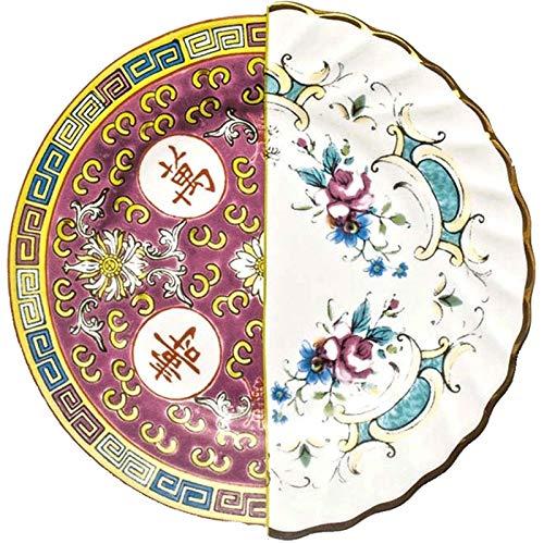 IHZ Plato de Cena de Porcelana China Creativa Italiana, China y Occidental, Plato Colgante, Plato Decorativo, Regalo de inauguración de la casa