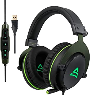 $108 » DingdingCat SUPSOO G817 USB Surround Stereo Gaming Headset Wired Music Headphone with Volume Control & Rotating Mic for PC, Laptop Free To Adjust Angle