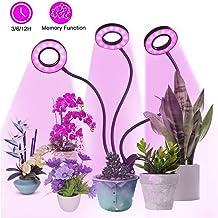 Lámpara de Plantas,Tomshine 27W 54 LED 3 Cabezales Lámpara de Cultivo de Plantas Iluminación Hortícola,3 Modos de Iluminación/5 Niveles Regulables/3 Modos de Temporizador (3/6/12H)/Función de Memoria