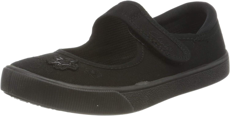Boys Clarks Black Hook /& Loops School Formal Shoes Lilfolk Zoo EX-DISPLAY