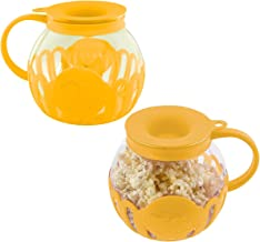 Ecolution (2 Pack) Popcorn Maker Glass Microwave Popcorn Popper With Butter Melter For Movie Style Popcorn
